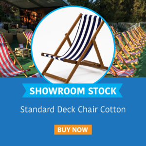 Showroom Stock Deck Chair Cotton