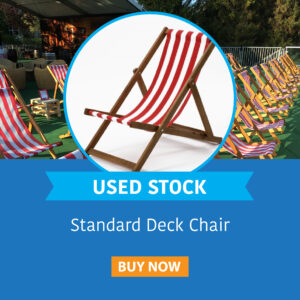 Used Stock Standard Deckchair Red