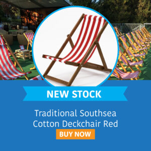 Traditional Southsea Cotton Deckchair Red
