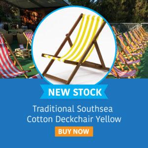 Traditional Southsea Cotton Deckchair Yellow